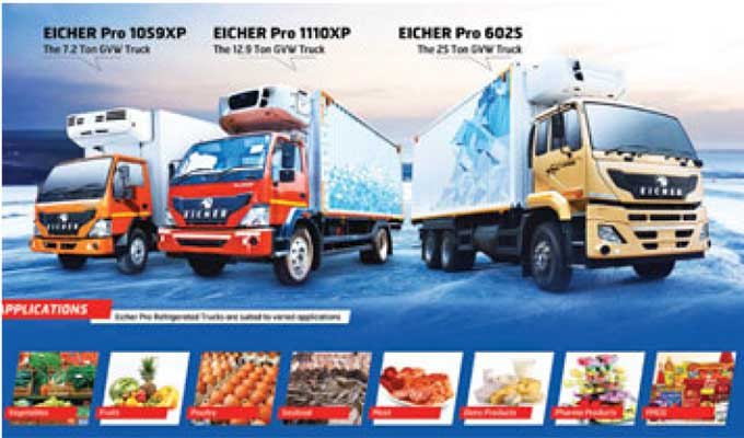 Eicher Trucks and Buses strengthen their presence in the reefer truck segment.