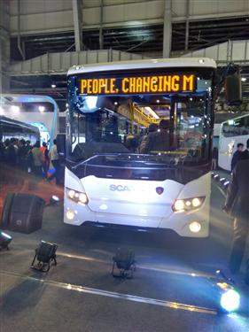 Scania showcases sustainable transport offerings at the Auto Expo 2016.