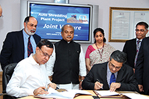 Mahindra Intertrade and MSTC sign MOU to set - up India's first Auto-shredding facility copy