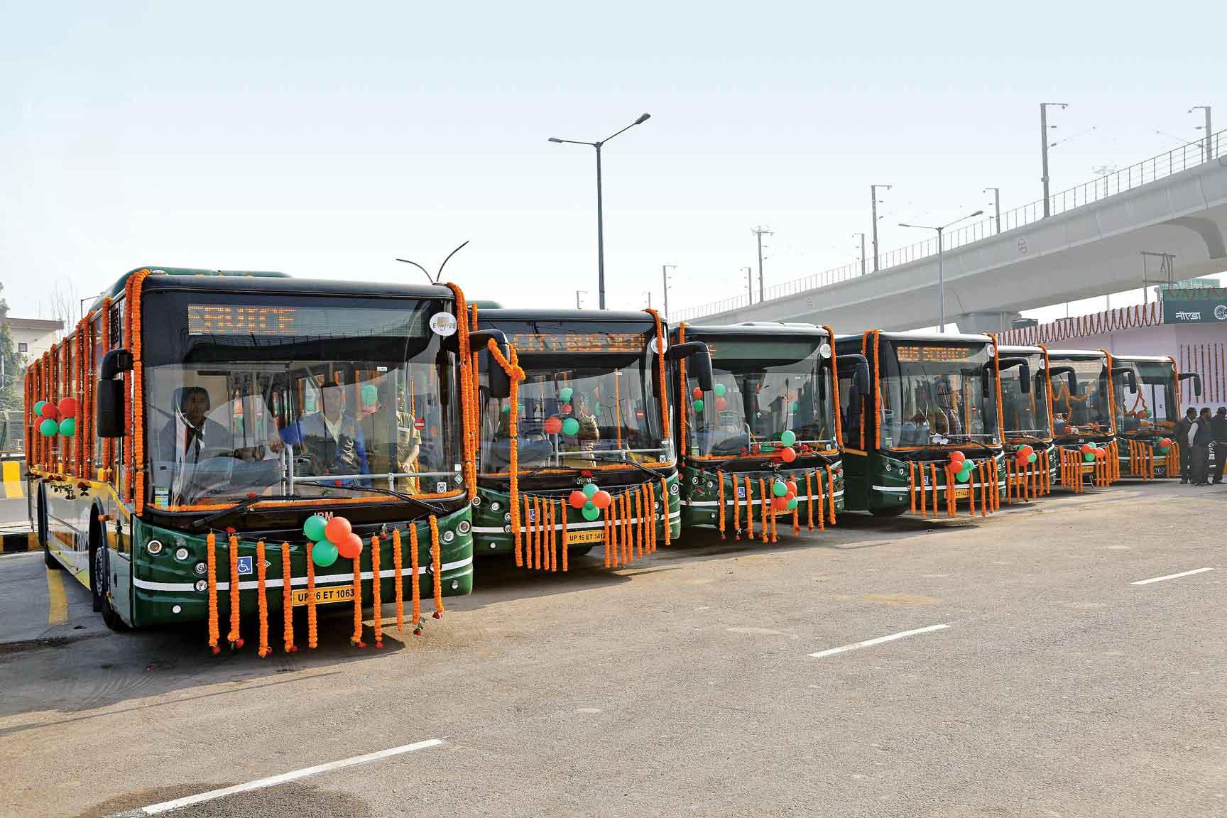 JBM city bus for Noida
