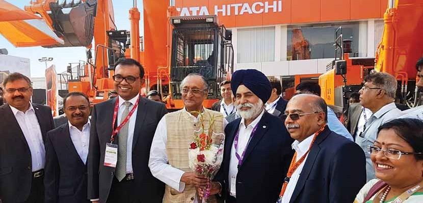Tata Hitachi excavators at IMME, Kolkata
