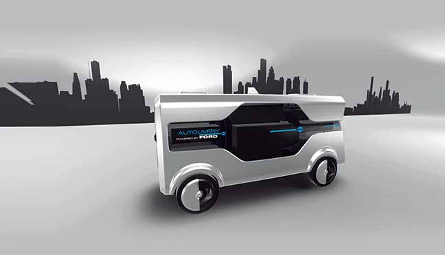 Delivery van concept to meet urban challenges