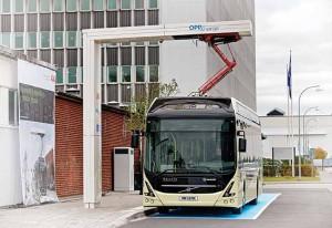 2016 10 12 Volvo Arendal Invigning av ABB laddstation för bussar. Samarbete med Volvo. Foto: Anna Rehnberg