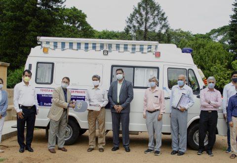 Toyota Kirloskar Motor provides Mobile Medical Unit to IISc in Karnataka