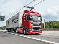 Scania R450 Hybrid HGV for German e-highway