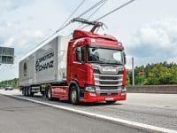 Scania R450 Hybrid HGV for German e-highway