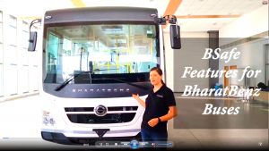 BharatBenz Buses Equipped with COVID-prevention Features for Public Safety